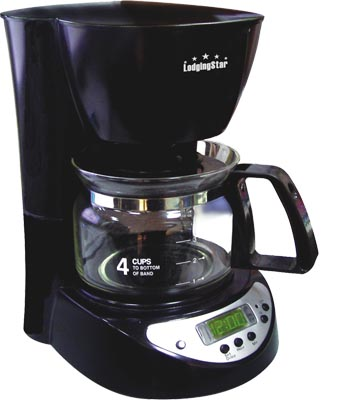 Commercial 4 Cup Coffee Maker Anti Drip Valve With Auto Shut Off