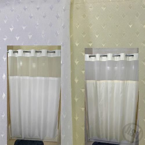 Rujan Peek-A-Boo STARDUST Style Polyester Shower Curtain, See-Thru ...