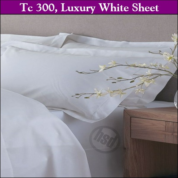 T-300, White, 65/35 Cotton/Poly, 94 x 120