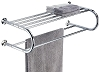 Hotel Towel Shelf and Rack with a chrome finish, Each
