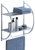 Hotel 2-Tier Shelf with Towel Bars, chrome finish, Each