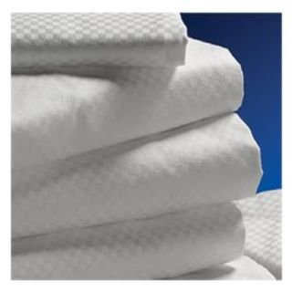 Centium Satin MICROCHECK White Hotel Casino Sheet Set by Standard Textile, King Flat 108x120