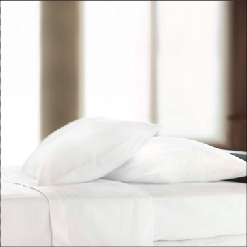 Centium SATIN White Hotel Casino Pillow Cases by Standard Textile Centium Core, King 42x46
