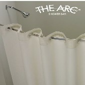 THE ARC FLAT Curved Shower Bar/Rod, 5 Ft/60 Inches, BRUSH Finish. Gives more elbow room (low as $24.50 ea)