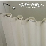 THE ARC® FLAT Curved Shower Bar/Rod, 5 Ft/60 Inches, BRIGHT Finish. Gives more elbow room in shower (low as $24.50 each)