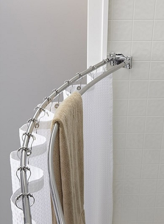 The Crescent Double Curved Shower Rod, 5 Ft. Round, Bright Finish (low as $ 62.95 each)