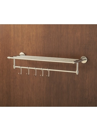 Crescent Suite-TOWEL RACK With HOOKS, Bright Finish, (low as $ 50.36 each)