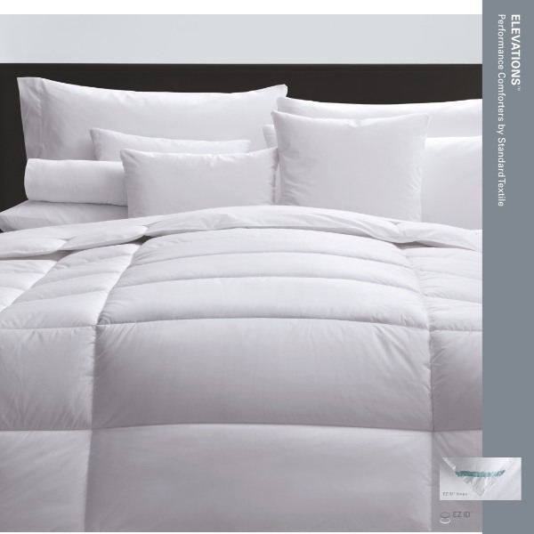 King: Luxury Hotel ELEVATIONS COMFORTER, by Standard Textile, 3 Distinct tones of fill, corded Piping all around, starting at $96.00, 2+