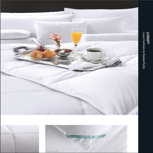 Full: LUXSOFT Comforter by Standard Textile, Supreme Comfort, T230 65/35 Ticking, Corded piping all around,