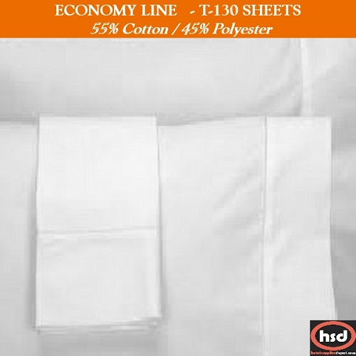ECONOMY LINE - HEALTHCARE MUSLIN T-130 FLAT SHEETS 66