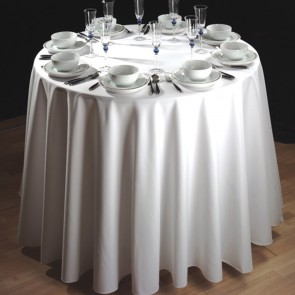 Hotel, Restaurant, Party Rentals-64 in. Round Spun Polyester Tablecloth, Color: BLACK, Price Each
