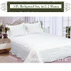 WHITE-Luxury Queen Size 3-piece Cotton Quilt Bedspread Set, Puff Design, Starting at $40.50 each
