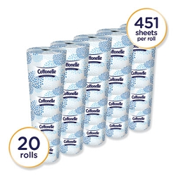 KIMBERLY CLARK Two-Ply Bathroom Tissue,Septic Safe, White, 451 Sheets/Roll, 20 Rolls/Carton