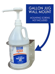 GermAttack Hand Sanitizer Gel 1Gallon/128 Oz , Wall Mount Dispenser only