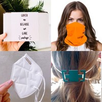 14 pc Covid-19 Quarantine Face Mask care, includes KN95, Neck Gaiter, Ear Saver Mask Extenders Tube Bandana