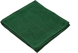 HUNTER GREEN-SOLID COLOR-100% Ring Spun Cotton, Wash Cloth, 12x12