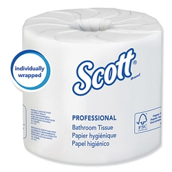 KIMBERLY CLARK Essential  80 Rolls/Carton 100% Recycled Fiber SRB Bathroom Tissue, Septic Safe, 2-Ply, White, 506 Sheets/Roll,