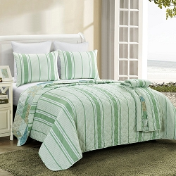 REVERSIBLE - Full/Queen Tidepool Quilt Set with free tote