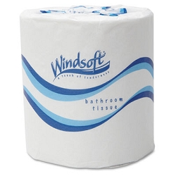WINDSOFT 48 Rolls/Carton Bath Tissue, Septic Safe, 2-Ply, White, 4.5 x 3, 500 Sheets/Roll