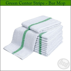 DOUBLE GREEN STRIPE Restaurant Terry Bar-Mop, 16x19