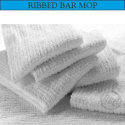WHITE Restaurant  SINGLE RIB Terry Bar-Mop, 16x19