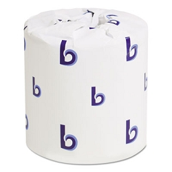 BOARDWALK Two-Ply Toilet Tissue, Septic Safe, White, 4.5 x 3.75, 500 Sheets/Roll, 96 Rolls/Carton