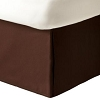 UPSCALE Hotel-Resort SHANTUNG BED SKIRT, Chocolate Brown, No ironing required, FULL 54 x 75