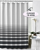 NEW RuJan HORIZON Polyester Shower Curtain, (Lines faded horizontally) Color: CAVIAR STRIPE  70x72
