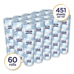 KIMBERLY CLARK Two-Ply Bathroom Tissue, Septic Safe, White, 451 Sheets/Roll, 60 Rolls/Carton