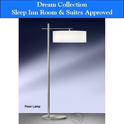Sleep Inn Room & Suites-Approved Hotel Floor Lamp with Electrical Rocker Switch, Brush Steel (starting at $ 85.45 each)