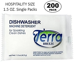 Vacation Rentals-Condominium-AirBnB, TERRA BREEZE Auto Dish Detergent Powder - 1.5 oz Packet (Case of 200)