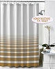 NEW RuJan HORIZON Polyester Shower Curtain, (Lines faded horizontally) Color: HONEY MUSTARD  70x72