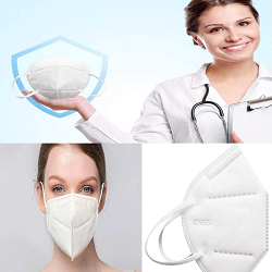 KN95 10PCS Respirator Face Mask Filters Anti Pollution Anti PM2.5 Face Cup Mask-Adjustable Elastic Belt, 4 layers, filtration rate above 99%