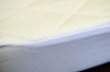 HOTEL MATTRESS PADS - FITTED, QUILTED PADS, White, Full 54x80