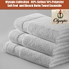 Hotel OLYMPIC Brand, Premium Blend, Wash Cloth, (Overlocked) White 12x12