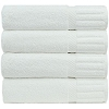 Hotel/Resort SPA-Oxford Signature Bath Towels 27x54 100% Ringspun Cotton w/ Piano Design Dobby Borders & Dobby Hemmed, White (starting at $66.41 Dozen)