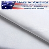 250 Tc American Made 60% Cotton/40% White Percale Elegance Hotel Casino Flat Sheets, FULL FITTED - 54 x 80+15