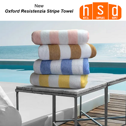 Oxford Resistenzia 30x70in -15.0 lb, Stripe Pool towels, 80% Ringspun cotton & 20% polyester, Dyed, Cabana 2x2, low as $88.07/Dz Wholesale
