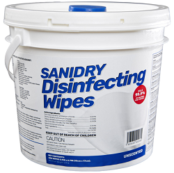 EPA Registered. SaniDry Disinfecting Wipes, 4 minute Sars-Cov-2 Kill Time, 300 Count, Nonabrasive, Multi-Surface Cleaning Wipes, 4 per case. Low as $37.93 ea