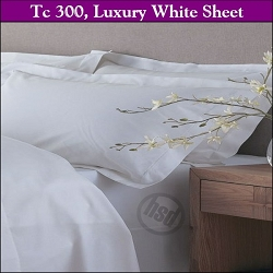 T-300, White, 65/35 Cotton/Poly, 42 x 46