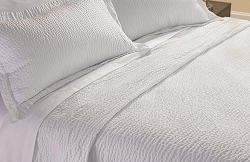 Queen: Luxury Hotel Coverlet (lightweight decorative top layer RIPPLE Pattern Bedspread)