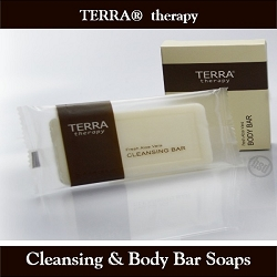 TERRA therapy SPA Collection- Cleansing Bar Soap, 28 g Boxed-Enriched Olive Oil and Soothing Aloe Vera (Case of 250), starting at $62.65 cs