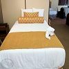 Hotel-Resort STRIPE -Tone on Tone White Decorative TOP SHEET, 250 Thread Count, 60% Cotton / 40% Polyester, QUEEN, 96 x 120