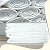 Wash Cloths, Hotel/Motel Economical, 100% Cotton, Cam Border, hemmed, 12 inch x 12 inch, White 0.75 Lb/Dz  Price per Dozen.