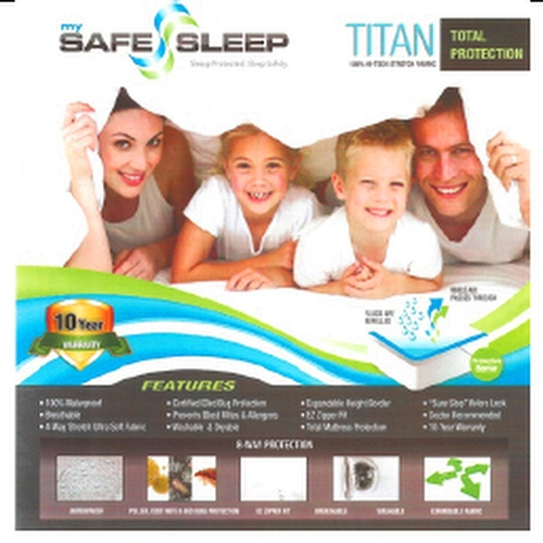 My Safe Sleep Titan Premium Zipper Mattress Protectors 9 In 14 In