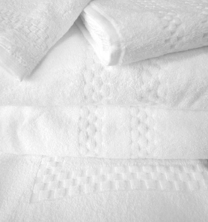 Oxford HOTEL RESORT UPSCALE-ViceRoy SPA-100% Combed Cotton, Checkered Design, Hand Towels 16x30