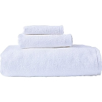 3Pc Towel Set, 100% Premium Ring Spun Cotton, WHITE (as low as $16.50 set)