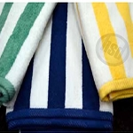 WHOLESALE -4x4 Oxford Cabana Pool Towels, 100% Ringspun cotton, vat dyed, 35 x 70 - 20.0 lb, dobby hem, low as $119.70/Dz