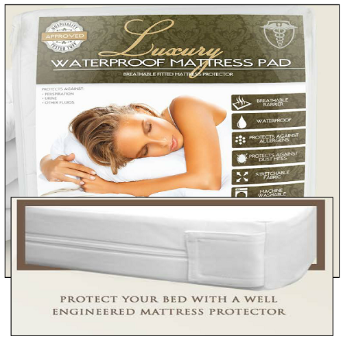 Luxury-Hotel Bed Bug Protector, Waterproof, breathable Mattress Encasement, S-KING 72x80+15