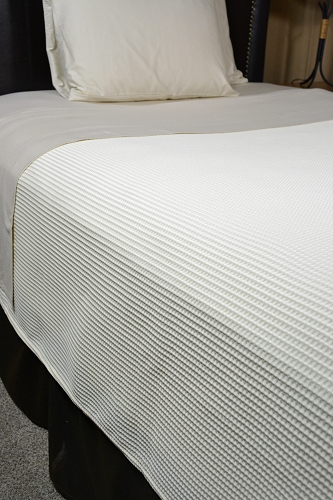 SUPREME WAFFLE-Top of the Bed Third Sheet -Coverlet/Blanket , FULL (Low as $34.25, 12 or more)